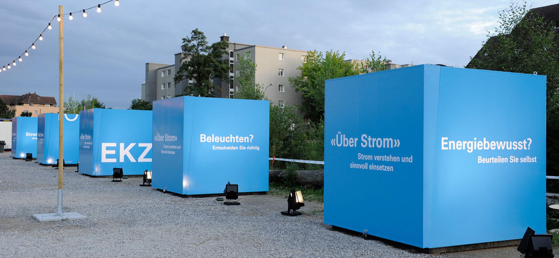 Ausstellungsgrafik für EKZ-Jubiläum