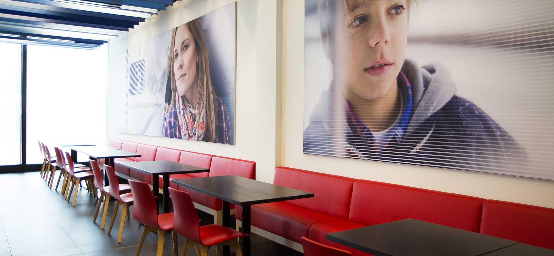 Wandbilder für SBB-Personalrestaurant