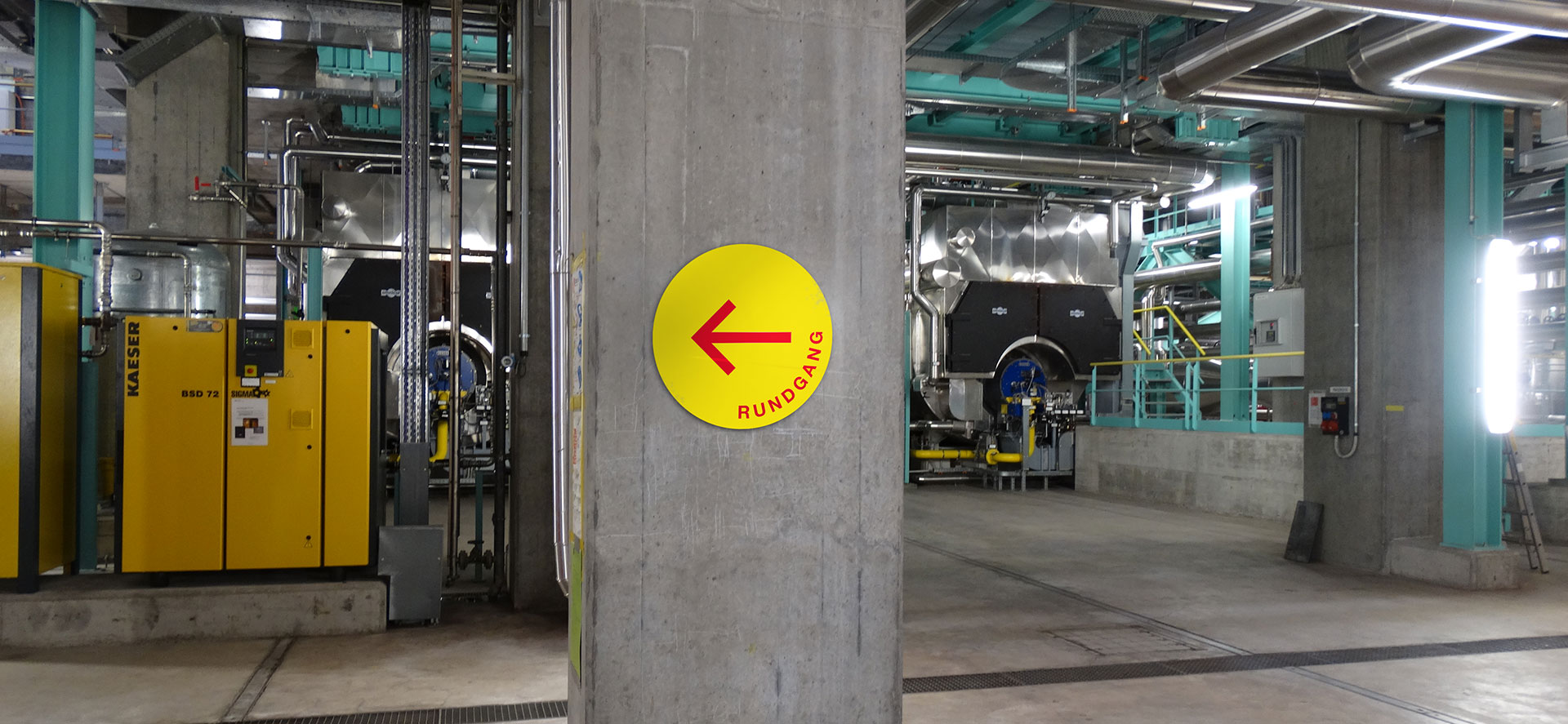 Signaletik für ERZ-Heizkraftwerk