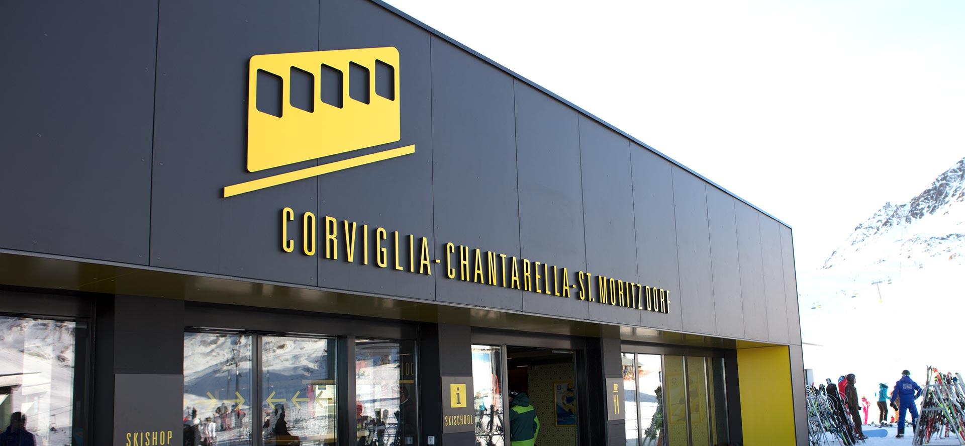 Signaletik für die Corviglia